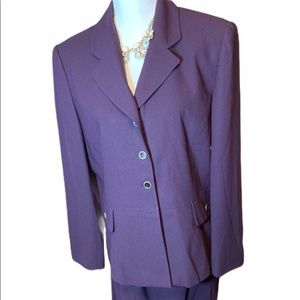 Purple suit with skirt 14 jacket career Kasper